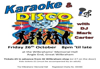 Karaoke and disco! 26th October