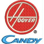 Hoover Candy logo embroidery design