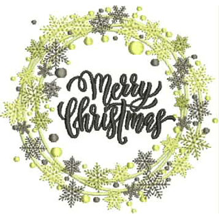 Merry Christmas3 embroidery design