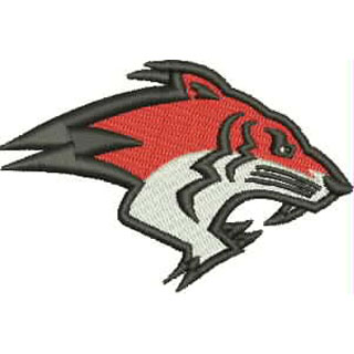 Glasgow tigers american football embroidery design