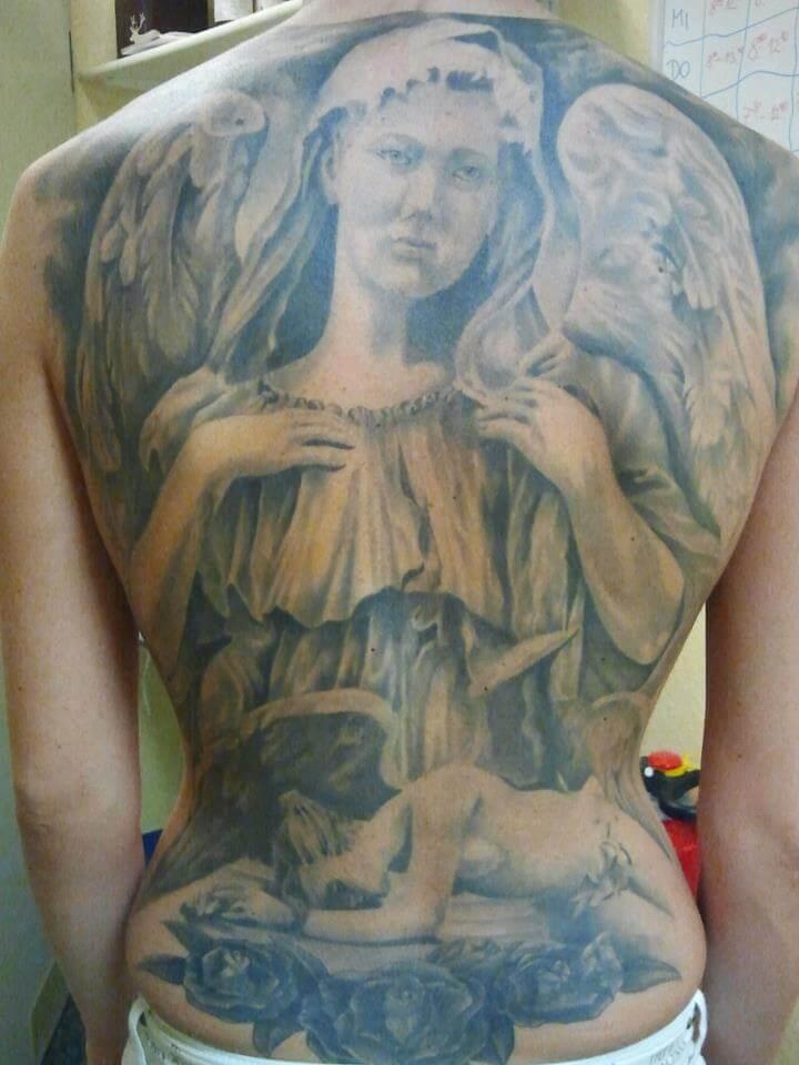 Wild Spirit Tattoo Hameln - Engel auf dem Rücken