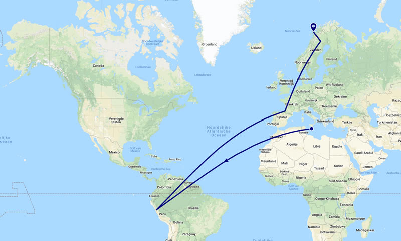 Map Reizen Edwin