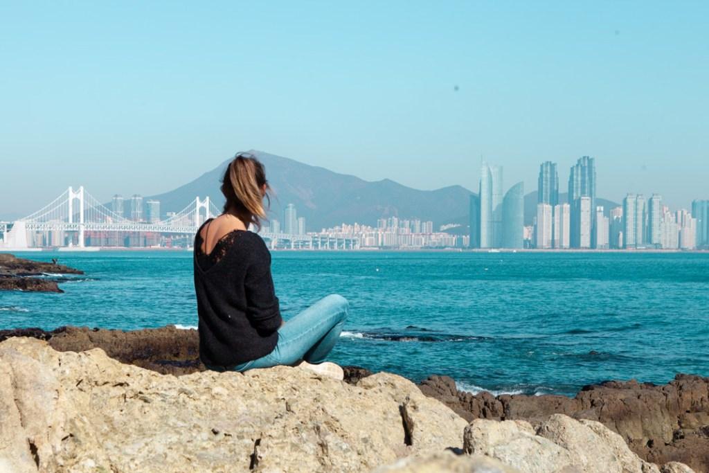 Foto von der Skyline von Busan