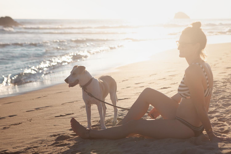 Foto am Strand mit Caipi