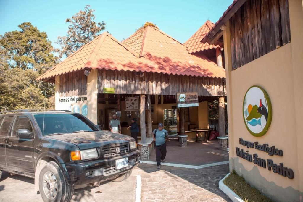 Eingang vom Parque Ecologico Vulkan San Pedro