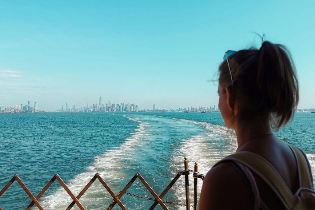 Svenja und New Yorks Skyline