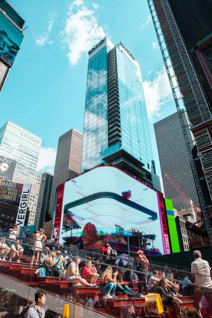 Times Square New York City rote Bank