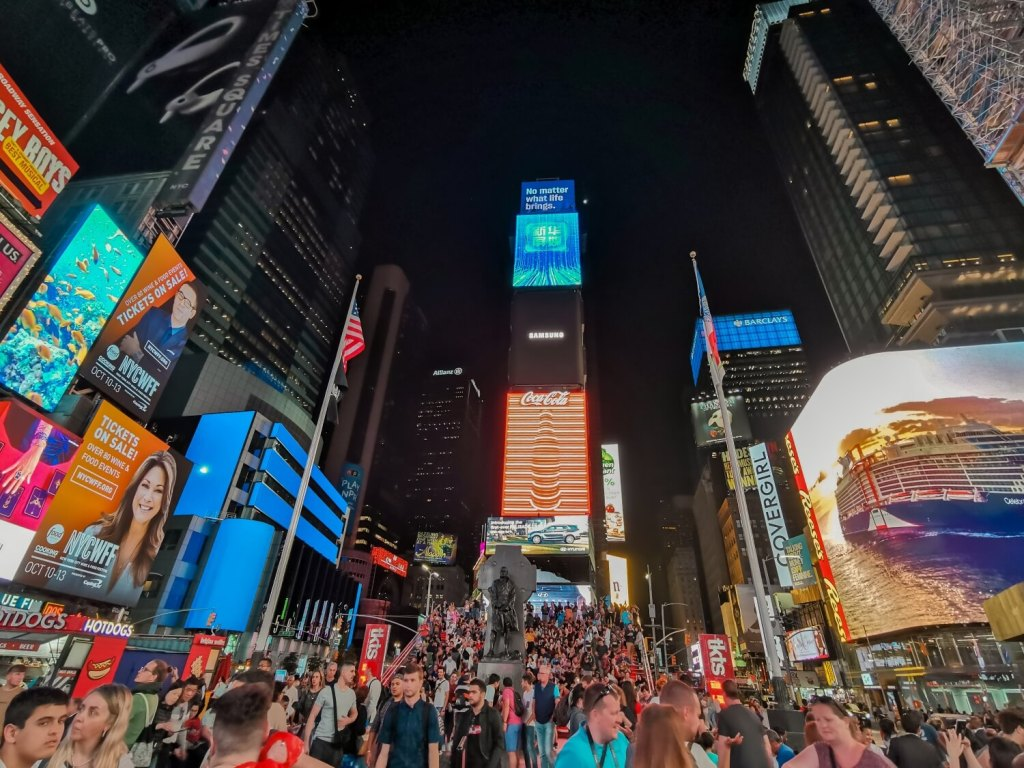 Times Square Nachts in New York