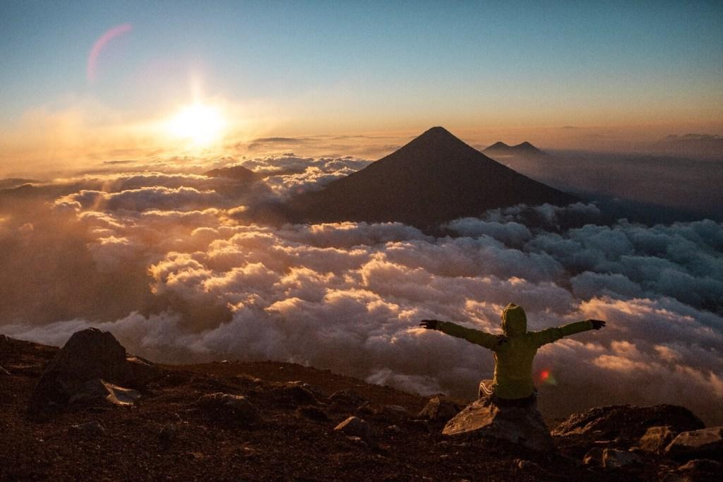 Aussicht auf Vulkane