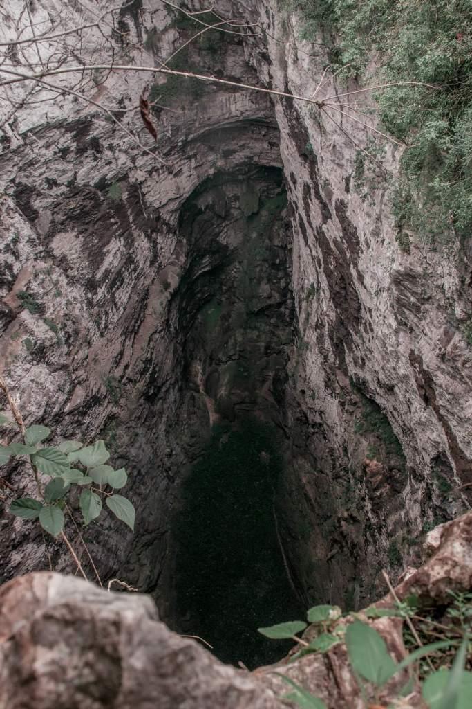 Huasteca Potosina Höhle oben