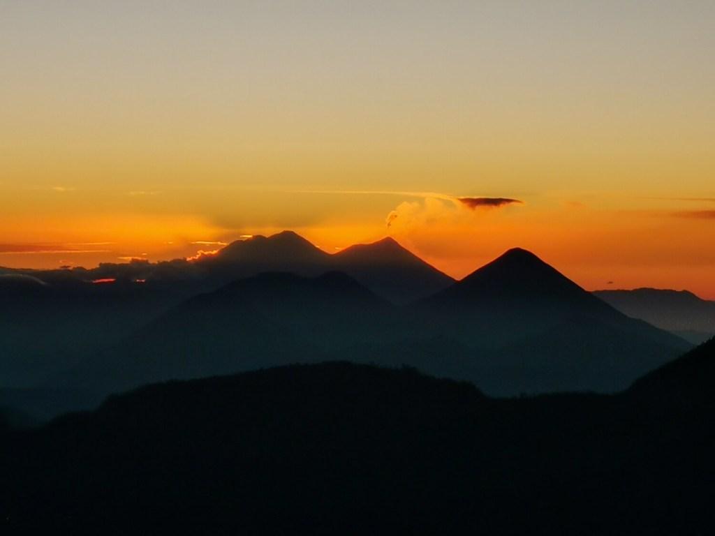 Vulkan Santa Maria Sonnenaufgang