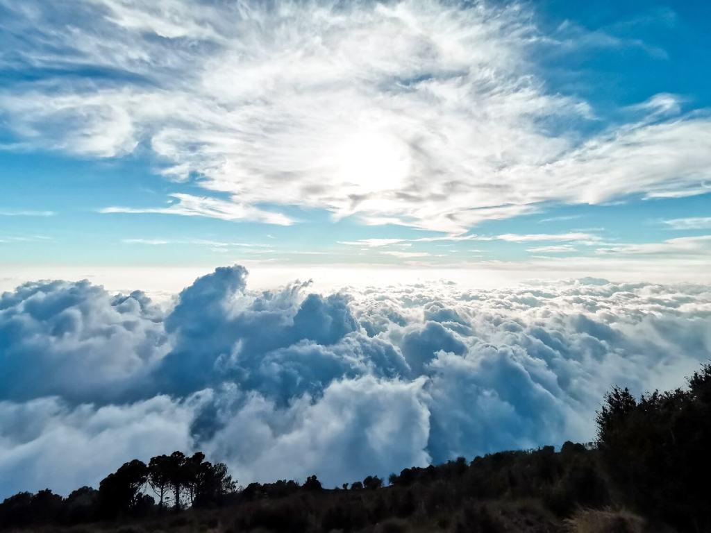Vulkan Santa Maria Wolken