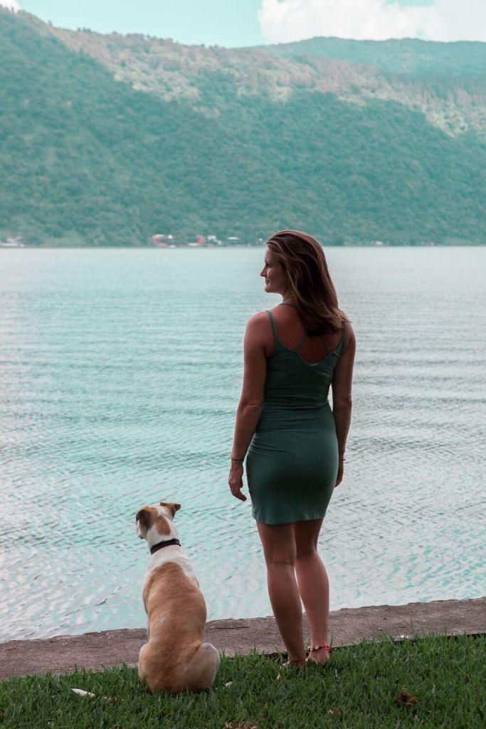 Caipi und ich am Lago Amatitlan
