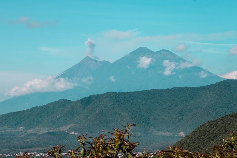 1,5 Jahre in Guatemala Vulkan Aussicht