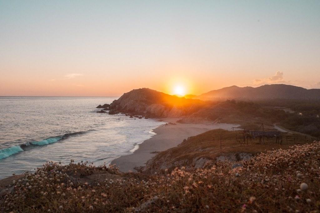Strände von Oaxaca Sunset