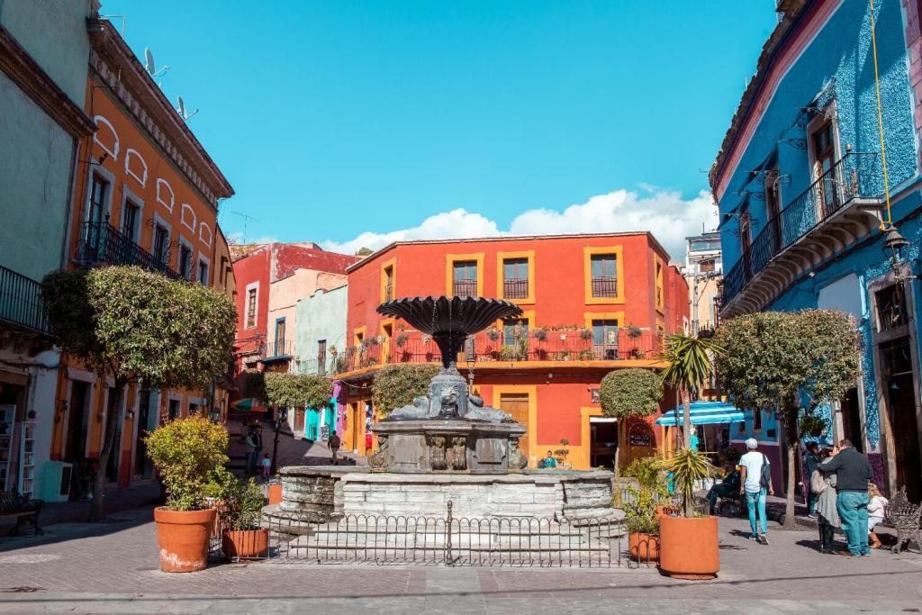 Guanajuato in Mexiko Marktplatz