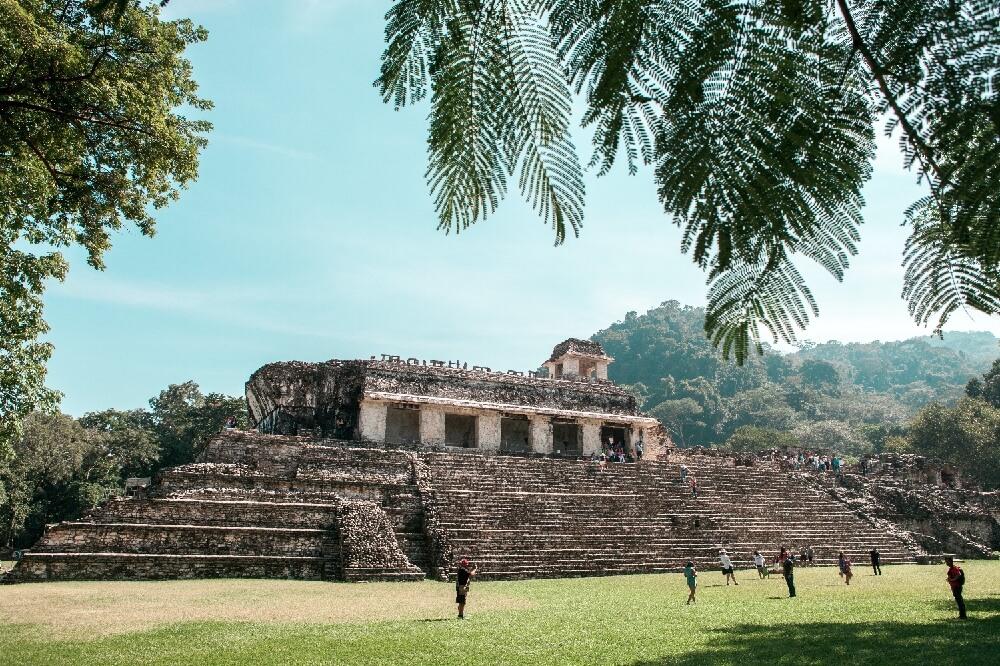 Gelände der Maya-Stadt
