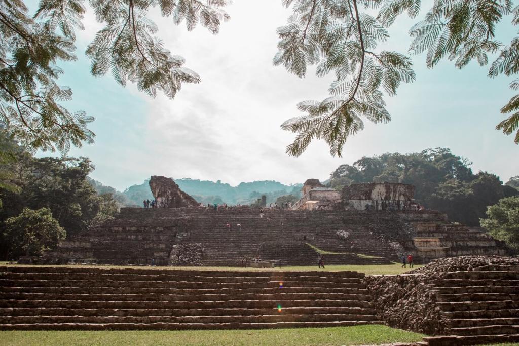 Palenque in Mexiko Sonnenlicht