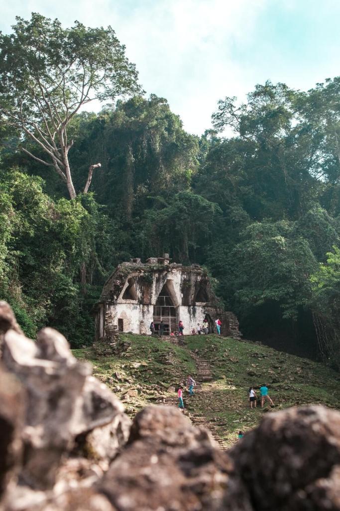 Kreuzblättertempel in Palenque in Mexiko