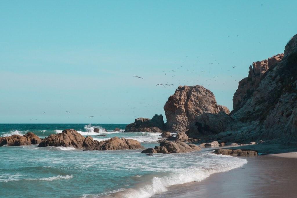 Strände von Oaxaca Felsen