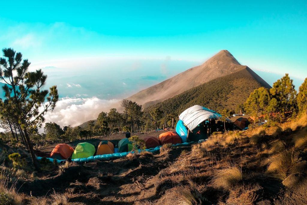 Basecamp am Vulkan Acatenango