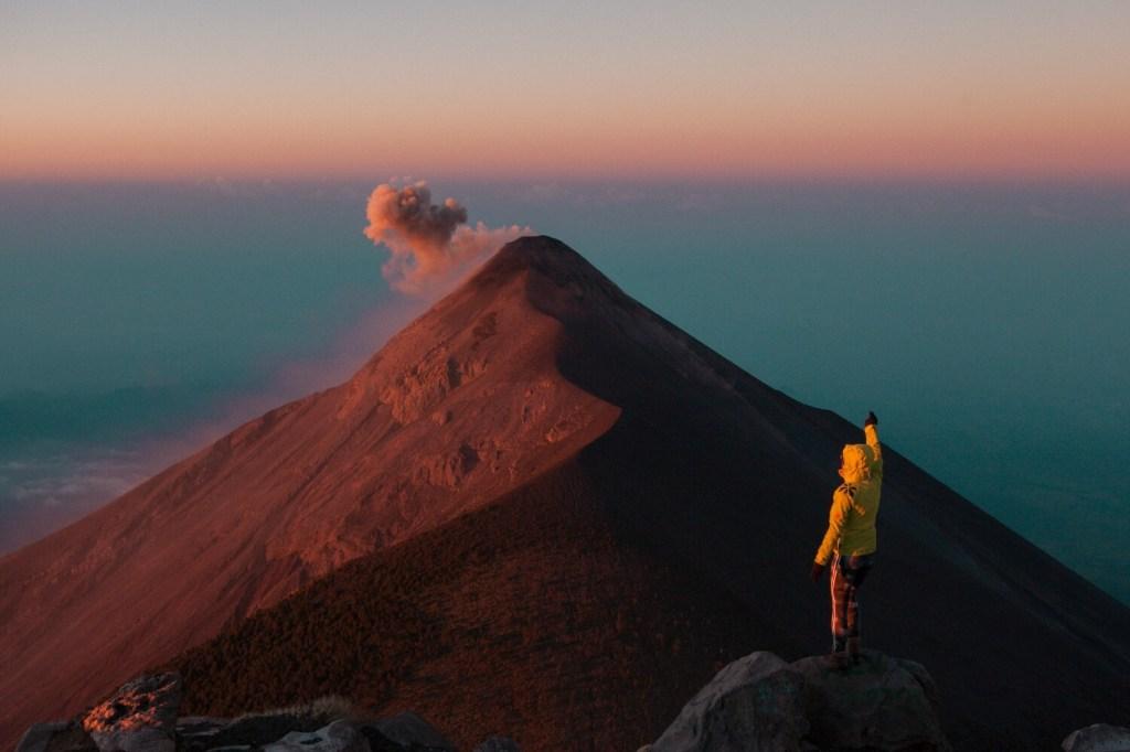 Auf dem Vulkan Acatenango in Guatemala