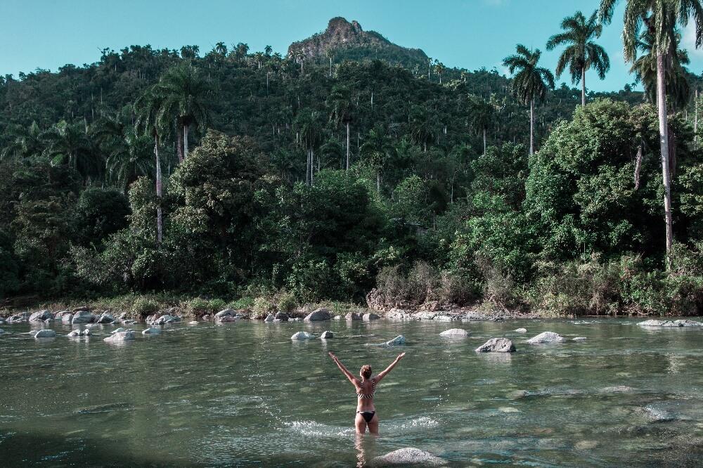 Im Fluss bei Baracoa in Kuba