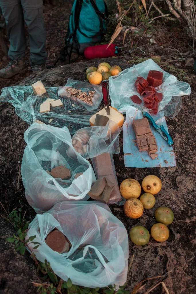 Essen auf der Wanderung Pico Turquino