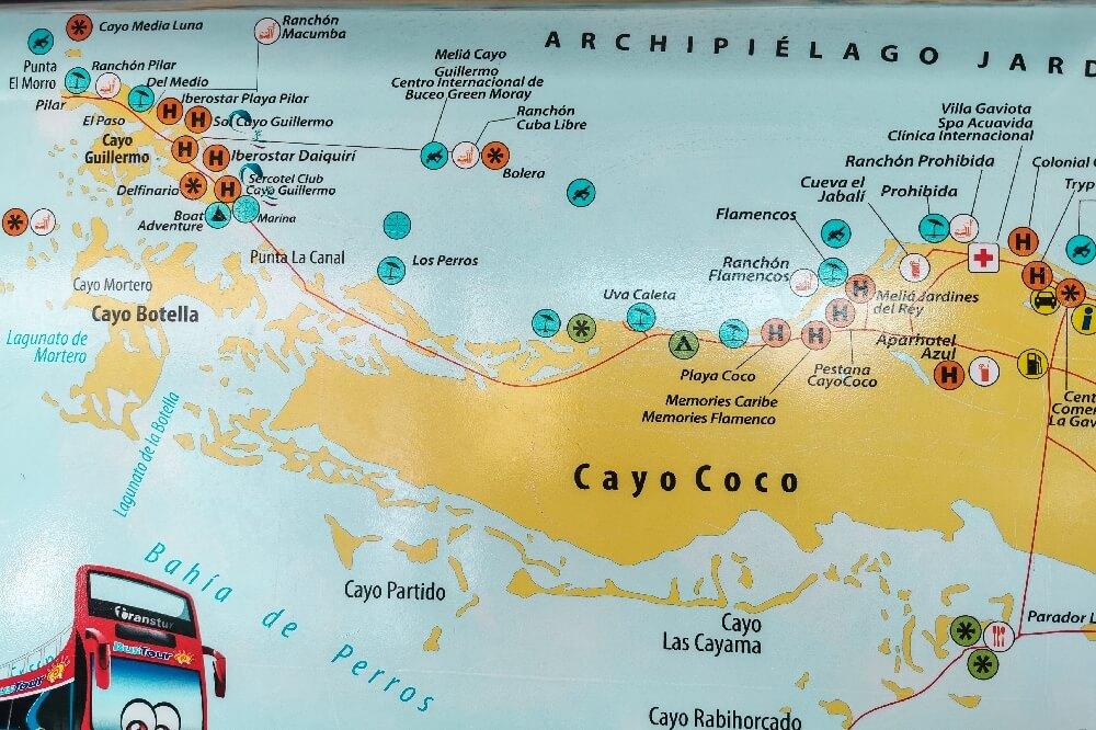 Cayo Guillermo Cayo Coco Busroute