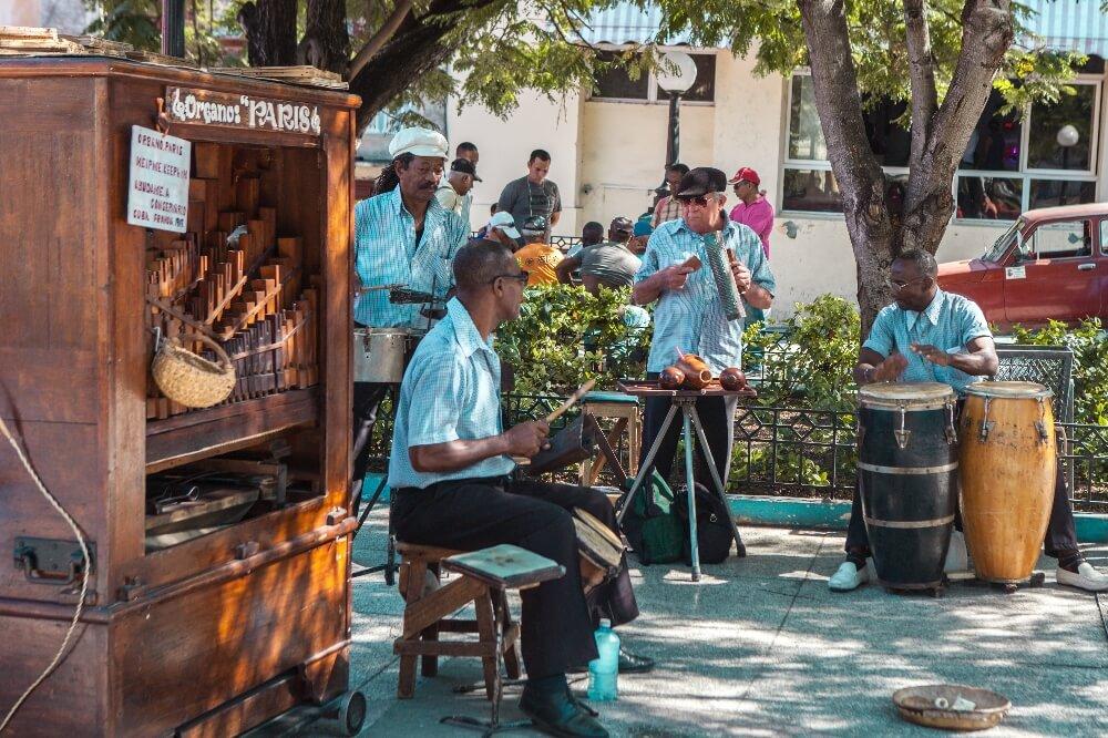 Musiker in Santiago