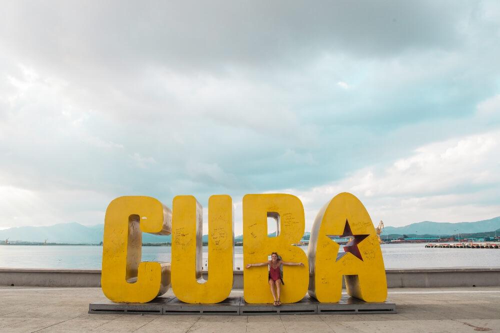 CUBA Buchstaben Santiago de Cuba