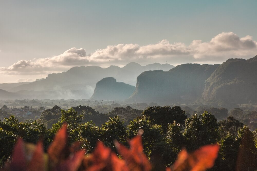 Ausblick auf das Vinales Tal
