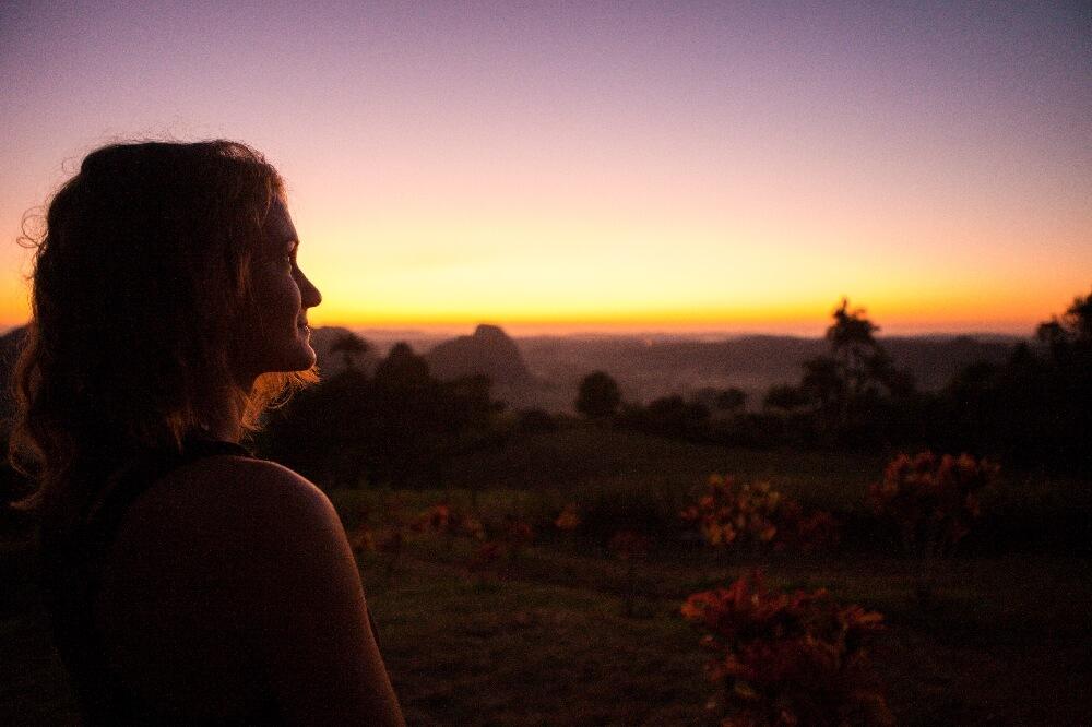 Sonnenaufgang in Vinales in Kuba