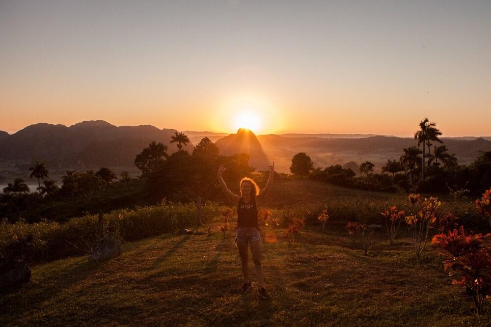 Sonnenaufgang in Vinales
