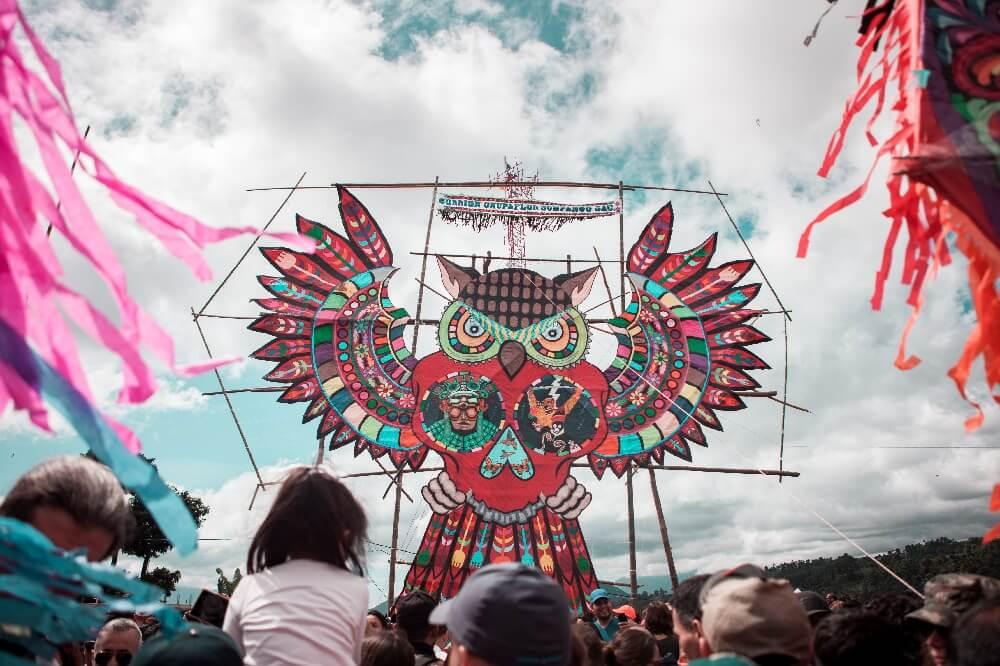 Eule am Drachenfest