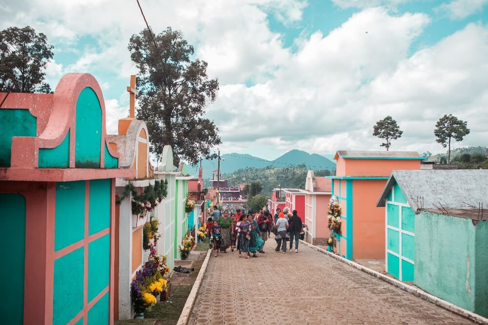 Drachenfest in Guatemala Friedhof