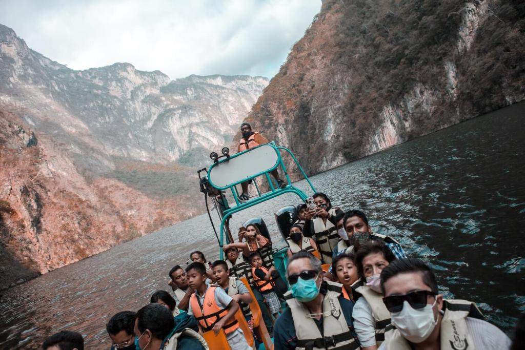 Bootsfahrt Canyon del Sumidero in Chiapas