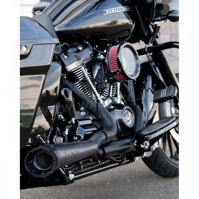 exhaust 2 into 1 tbr shorty turn out black harley davidson softail m eight 18 21