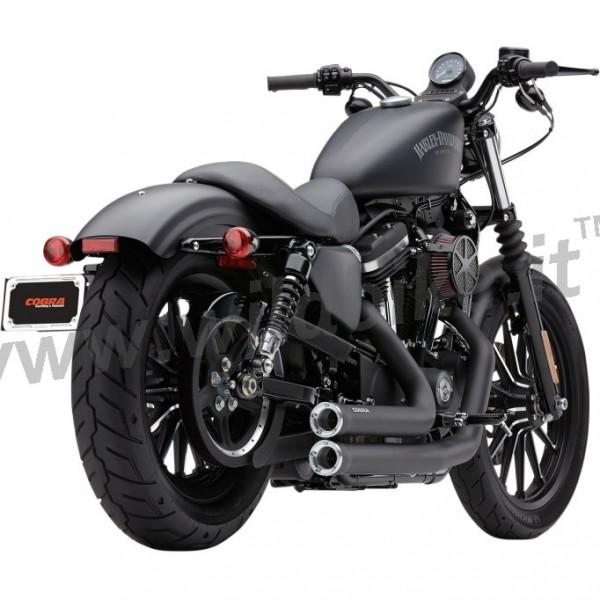 exhausts cobra speedster shorts black harley davidson xl sportster 14 20