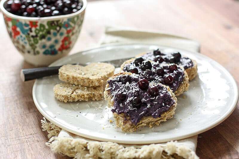 Wild Blueberry Heart Toast