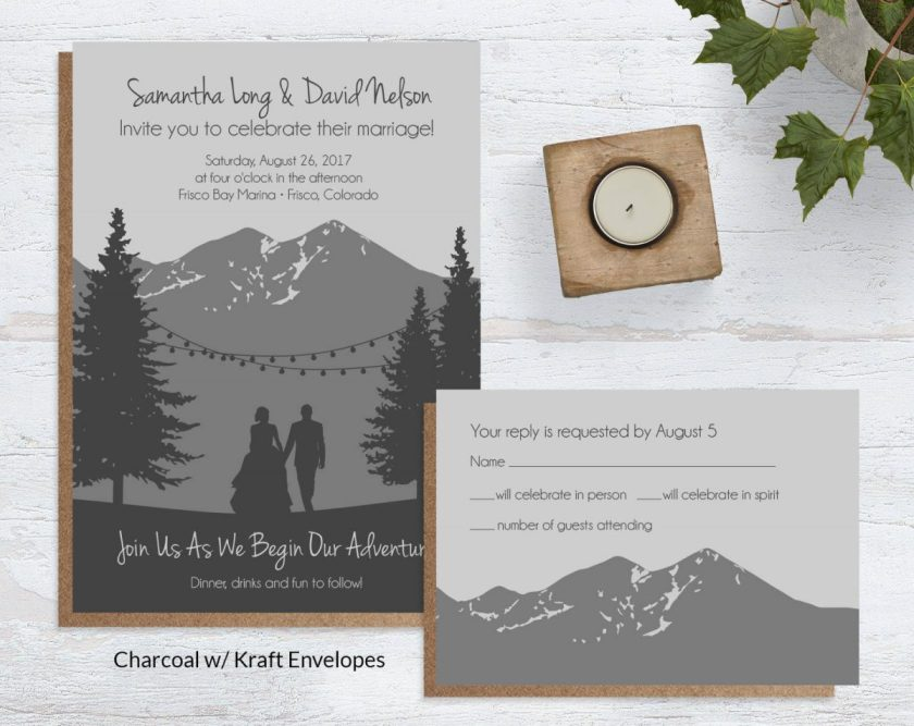 Mountain Elegance Wedding Invites