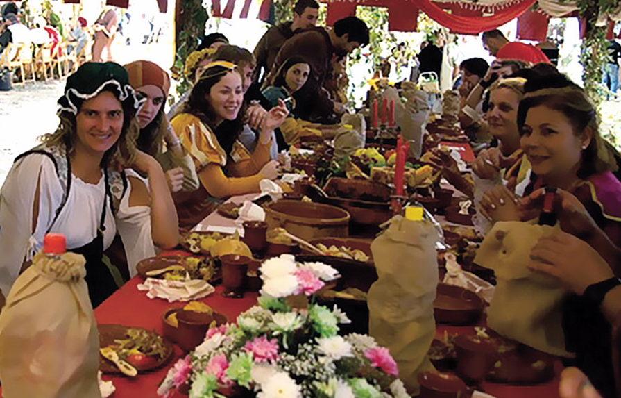 Autumn Camino De Santiago. The Feira Franca Festival In Pontevedra.