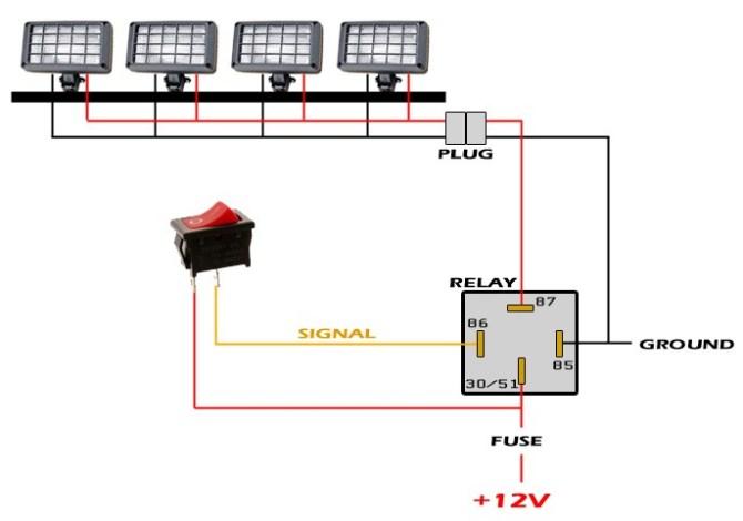 ep 911 led light bar wiring diagram  ski tow harness