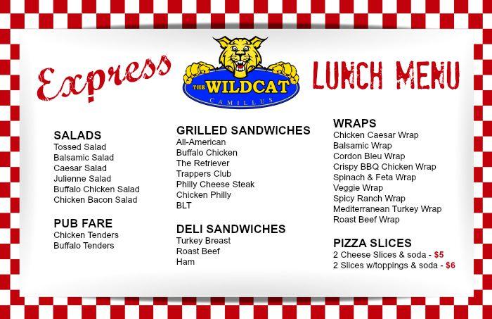 Wildcat express menu
