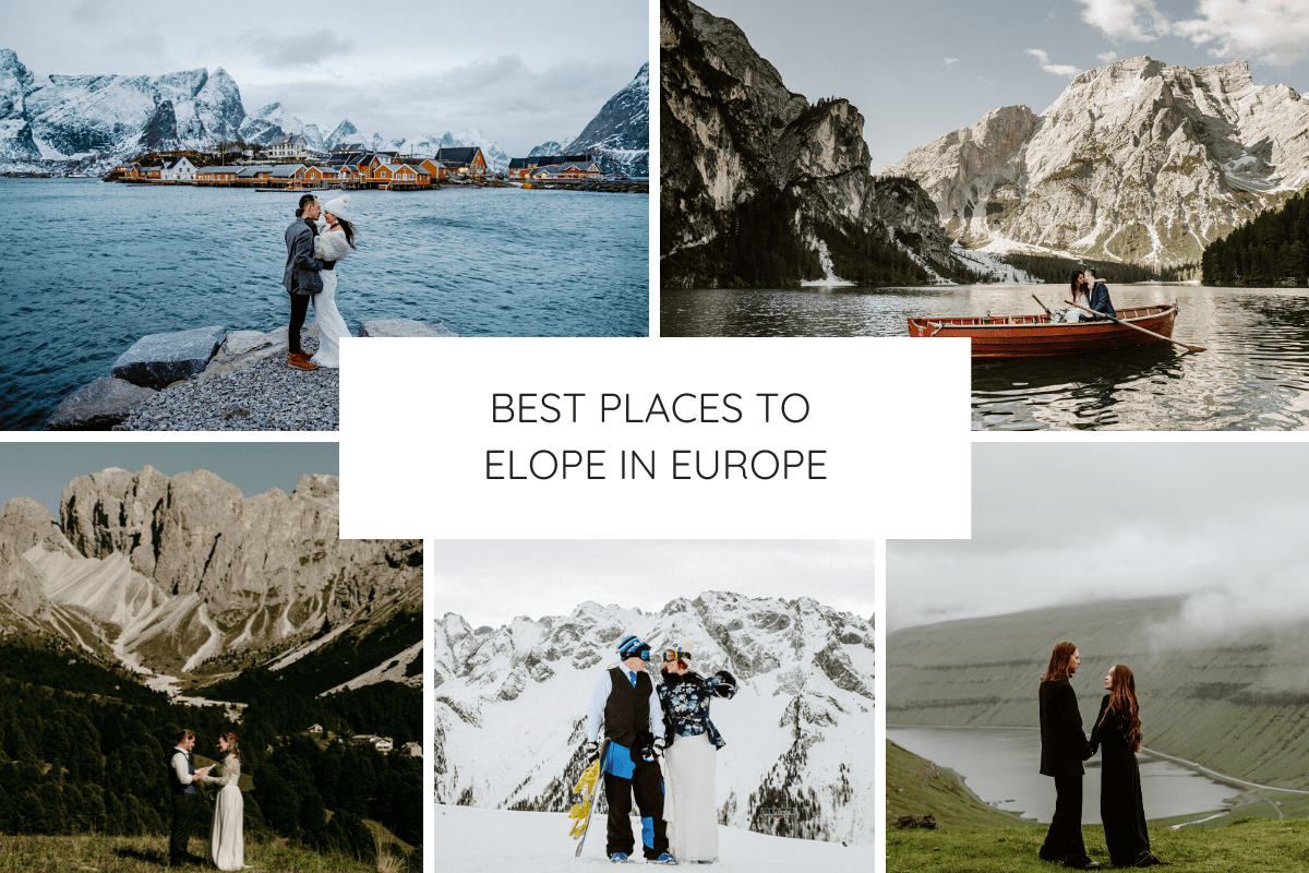 Best places to elope in Europe blog post