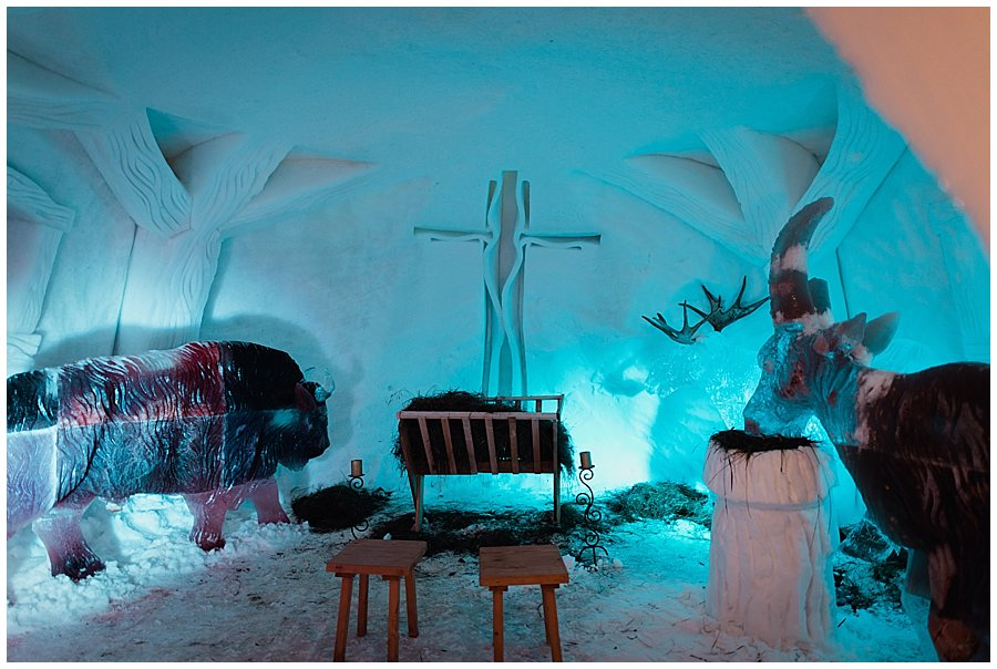 A Igloo wedding chapel in the Igloo Alpeniglu in Brixen by Wild Connections Photography