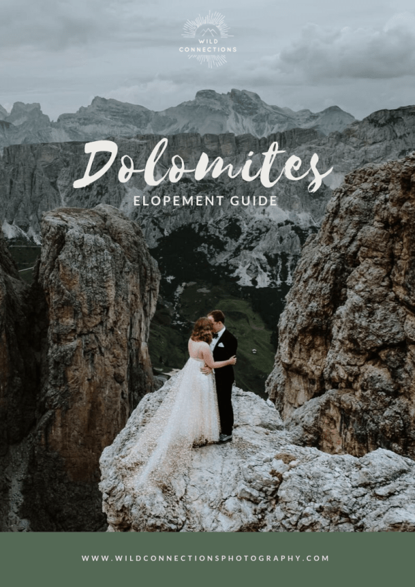 A Dolomites elopement guide written by Wild Connections Photography for couples getting married in Italy