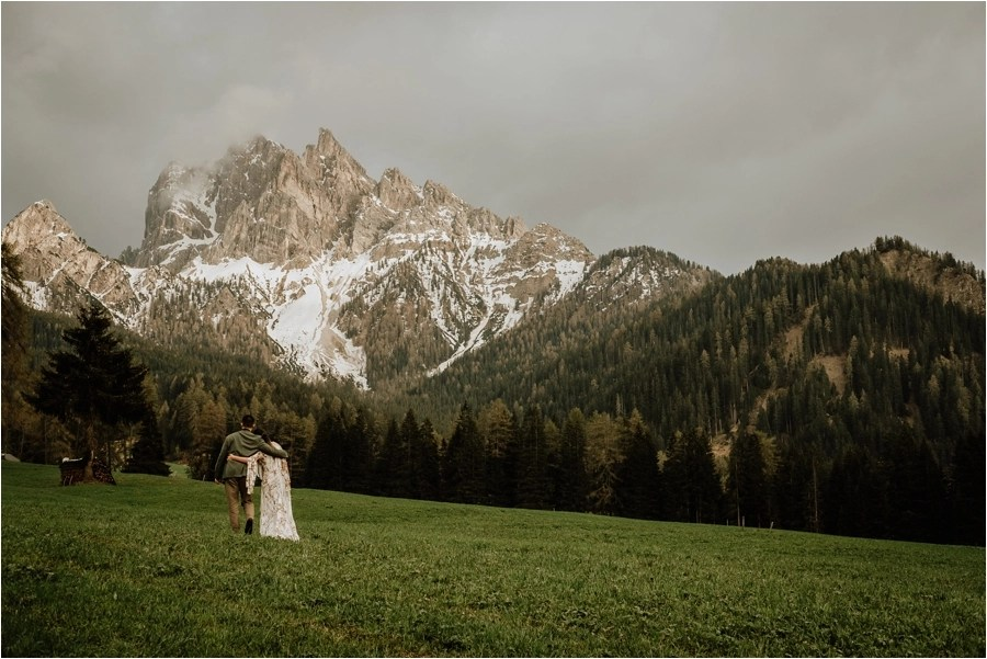 Dolomites elopement photographer Wild Connections Photography