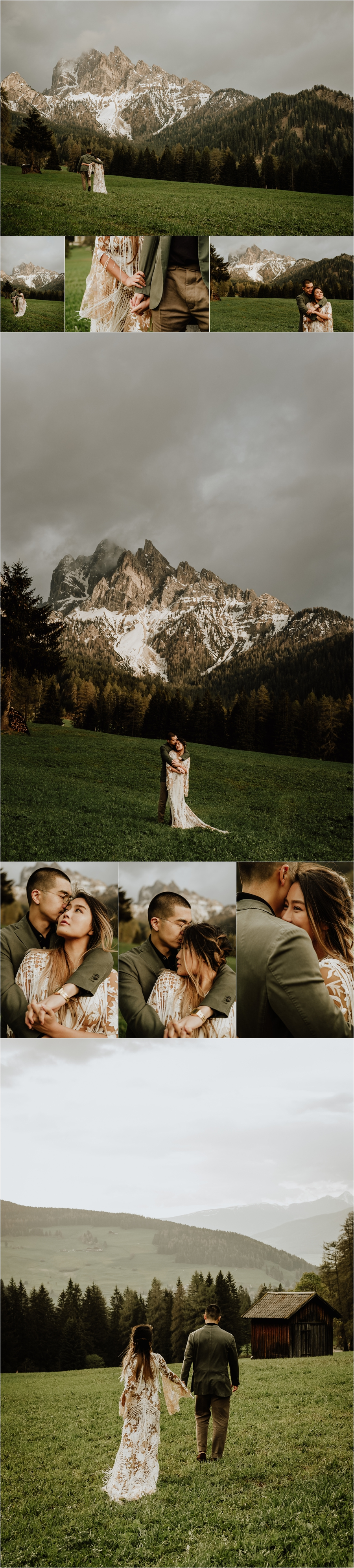 An adventure wedding enagement shoot in the Italian Dolomite mountains by Wild Connections Photography