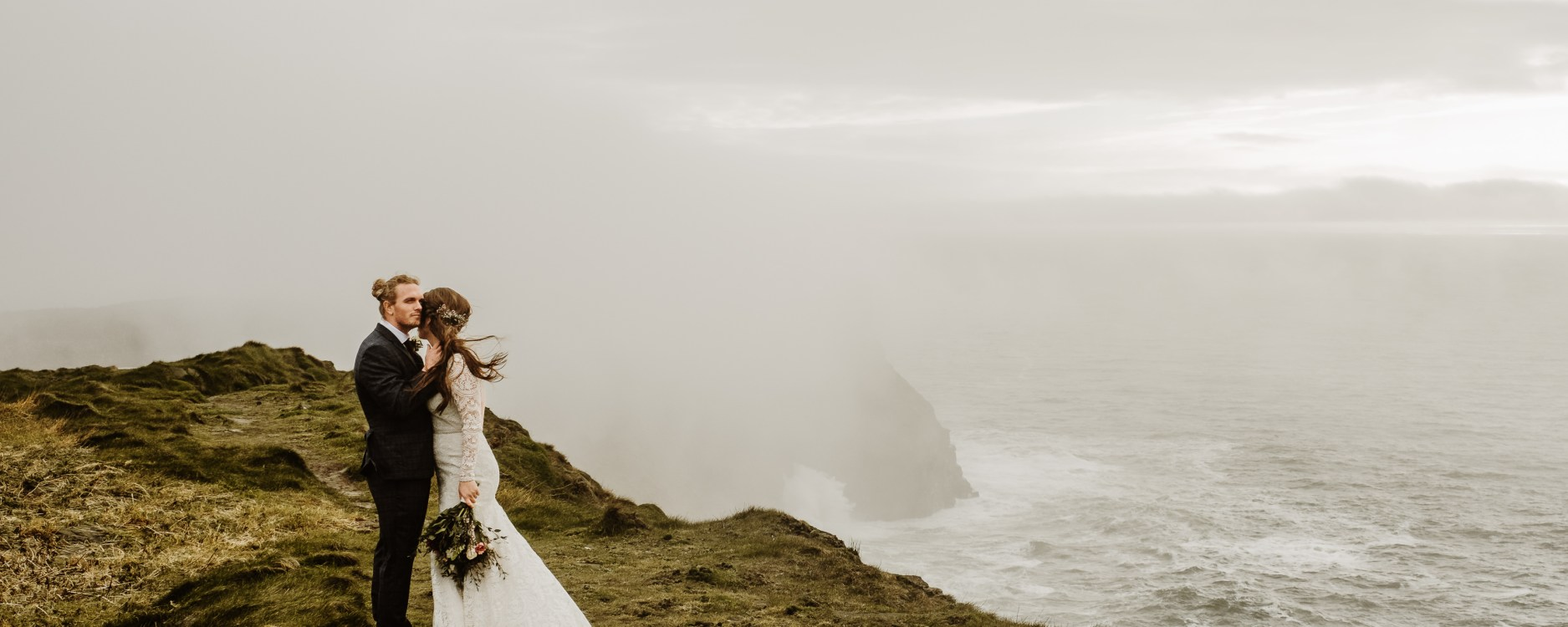 An Irish elopement in Europe by adventure wedding photographer Wild Connections Photography